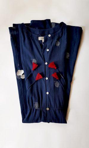 Starry Night Sky Handloom Dress