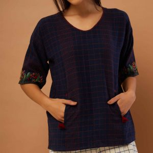 Middie Top with Meadow Hem