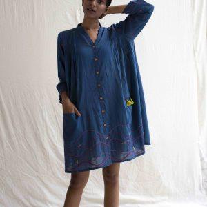Hooper Dress in Blue