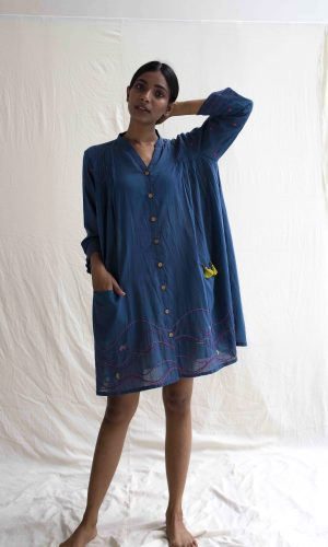 Hooper Dress in Blue