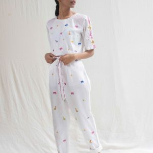 Juggler Jumpsuit in White