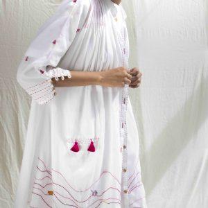 Hooper Dress in White