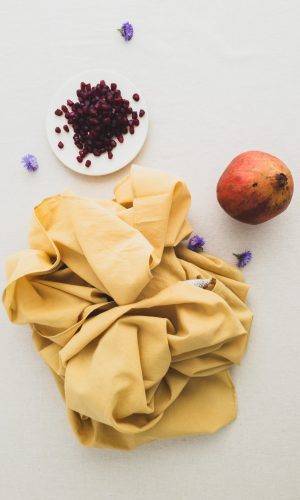 Pomegranate Dye Cotton Scarf