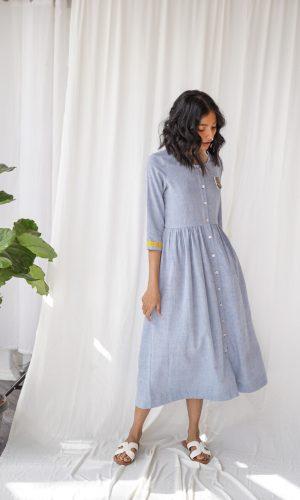 Shameez Handloom Dress Blue